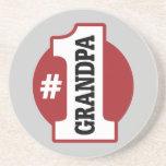 Number 1 Grandpa Beverage Coaster