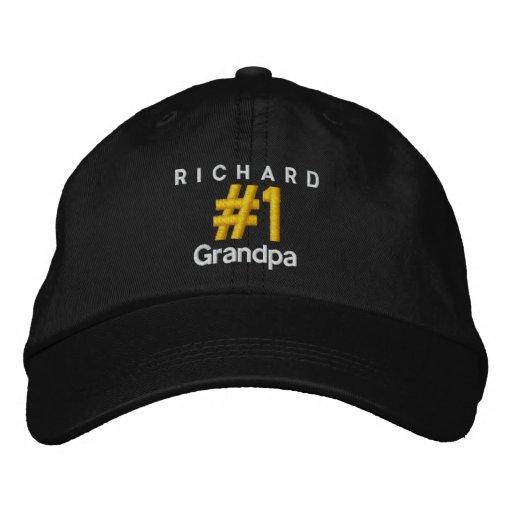Number 1 GRANDPA Personalised Adjustable Hat V06D