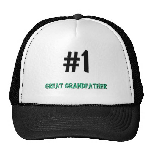 Number 1 Great Grandfather Trucker Hat