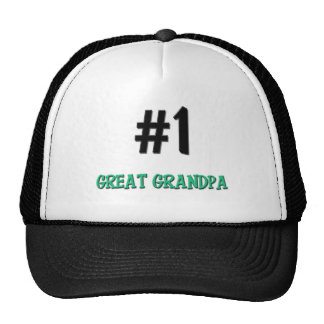 Number 1 Great Grandpa Trucker Hat
