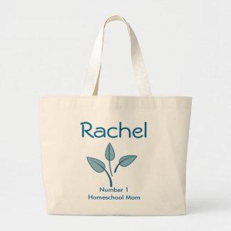 Number 1 Homeschool Mom Large Tote Bag