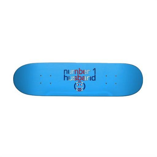 Number 1 Husband ( Husband's Birthday ) 18.1 Cm Old School Skateboard Deck