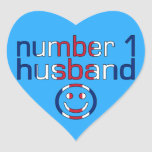 Number 1 Husband ( Husband's Birthday ) Heart Sticker