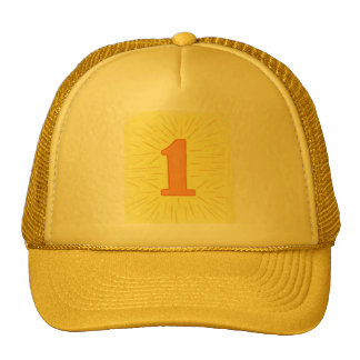 Number 1 in Orange and Yellow Hats
