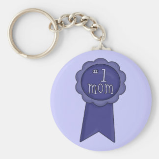 Number 1 Mom Basic Round Button Key Ring