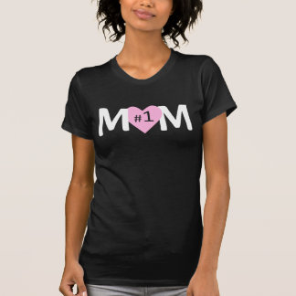 Number 1 Mom Pink Heart Tshirt
