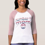 Number 1 Mum in American Flag Colours T Shirts