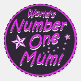 Number 1 Mum Stickers