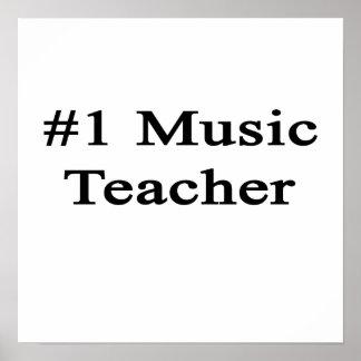 Number 1 Music Teacher Poster