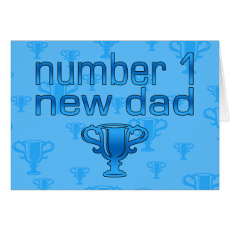 Number 1 New Dad Card