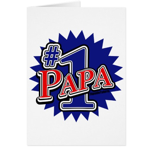 Number 1 Papa Greeting Card