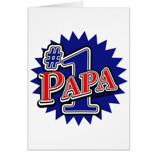 Number 1 Papa Greeting Card