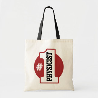 Number 1 Physicist Canvas Bags