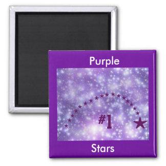 Number 1 Purple Star Magnet