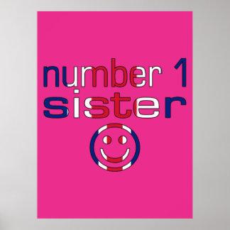Number 1 Sister Sister s Birthday Print