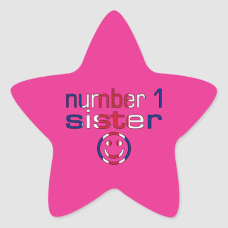 Number 1 Sister Sister s Birthday Star Stickers