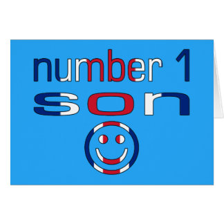 Number 1 Son ( Son's Birthday ) Greeting Card
