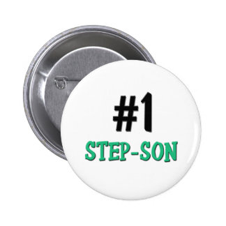Number 1 Step-Son 6 Cm Round Badge