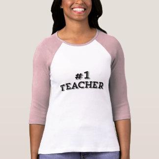 Number 1 Teacher Bold Modern Black Teacher T-Shirt