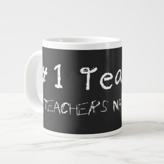 Number 1 Teacher Personalize With Teachers Name Large Coffee Mug