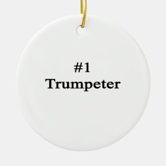 Number 1 Trumpeter Christmas Ornaments