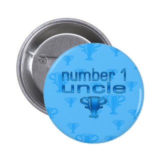 Number 1 Uncle Pinback Buttons