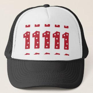 Number 1 - White Stars on Dark Red Trucker Hat