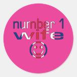 Number 1 Wife ( Wife's Birthday ) Round Sticker
