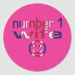 Number 1 Wife ( Wife's Birthday ) Round Stickers