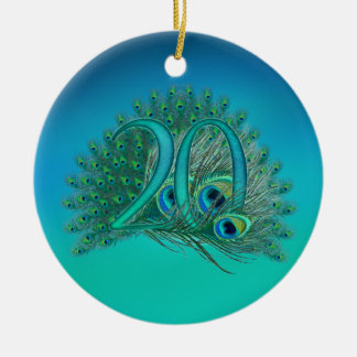 Number 20 / age / years / 20th birthday template christmas ornament