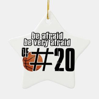 Number 20 Basketball designs Christmas Ornament