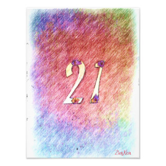 number 21 photographic print
