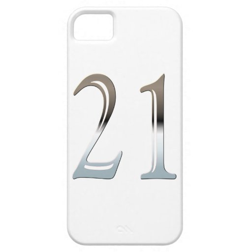 Number 21 Years Old Birthday Chrome Look iPhone 5 Cover