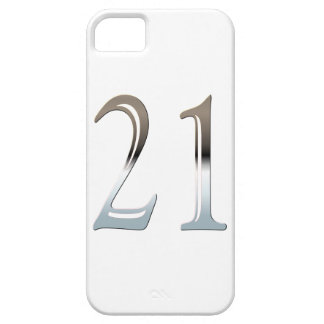 Number 21 Years Old Birthday Chrome Look iPhone 5 Covers