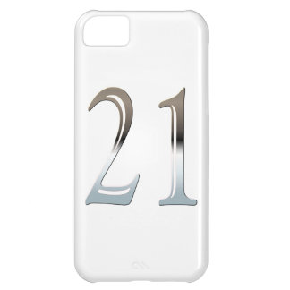 Number 21 Years Old Birthday Chrome Look iPhone 5C Case