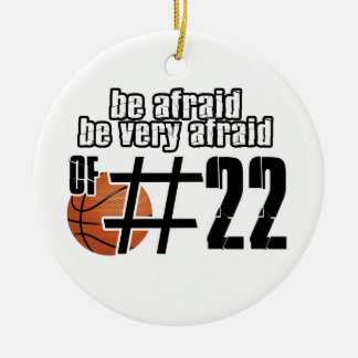 Number 22 Basketball designs Christmas Ornament
