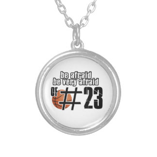 Number 23 Basketball designs Silver Plated Necklace
