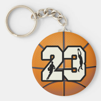 Number 23 Basketball Key Ring