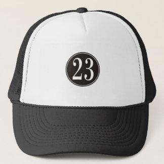Number 23 - Black Circle (front) Trucker Hat