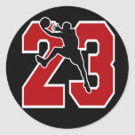 NUMBER 23 WITH BASKETBALL PLAYER STICKERS