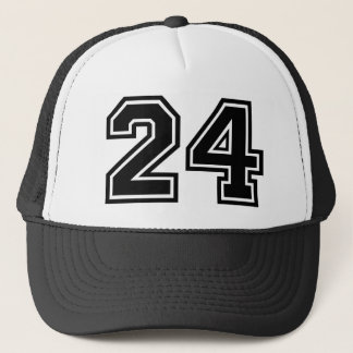 Number 24 trucker hat