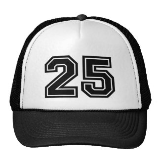 Number 25 Birthday Cap