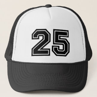 Number 25 Birthday Trucker Hat