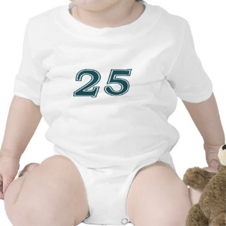 Number 25 End Zone Baby Bodysuit
