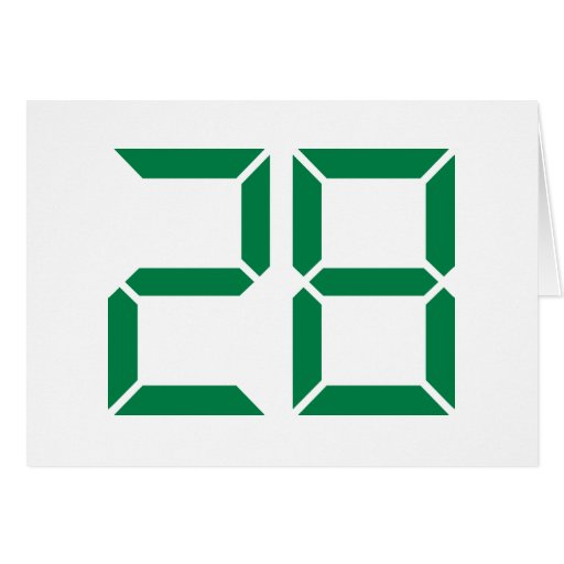 Number - 28 greeting cards
