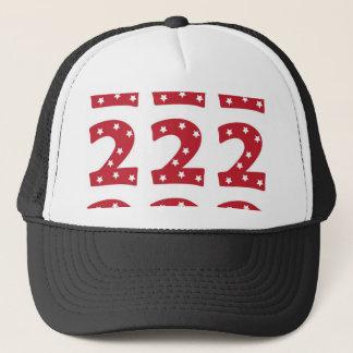 Number 2 - White Stars on Dark Red Trucker Hat