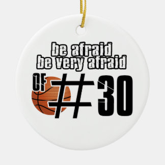 Number 30 Basketball designs Christmas Ornament