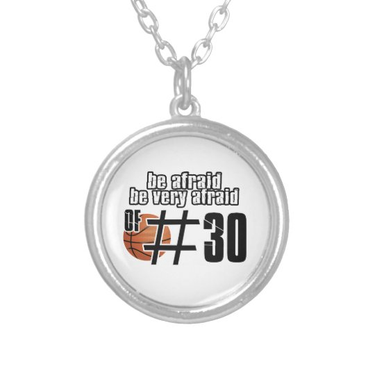 Number 30 Basketball designs Silver Plated Necklace