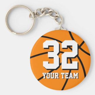 Number 32 basketball keychains | Personalizable