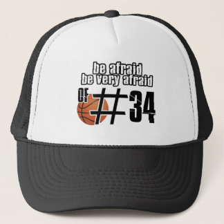 Number 34 Basketball designs Trucker Hat